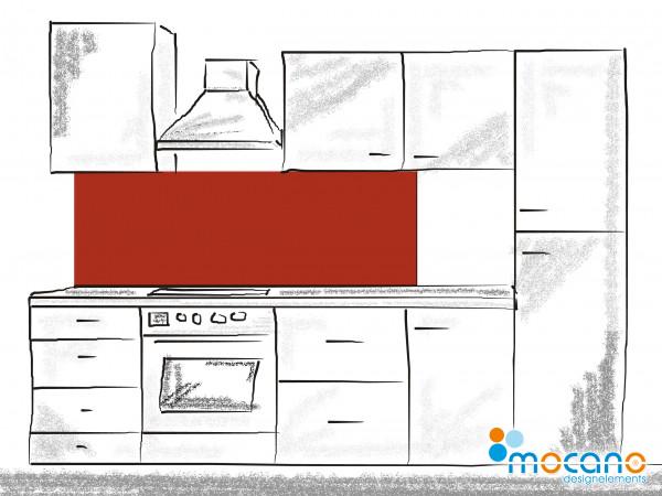 Küchenrückwand Ziegel Rot einfarbig UNI 180x60cm - Wohnbeispiel