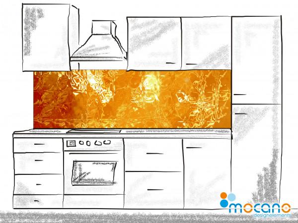 Küchenrückwand Vulkaneruption - 200x60cm Wohnbeispiel