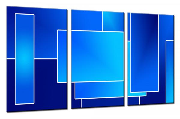 Blue Lounge - Mehrteiliges Leinwandbild