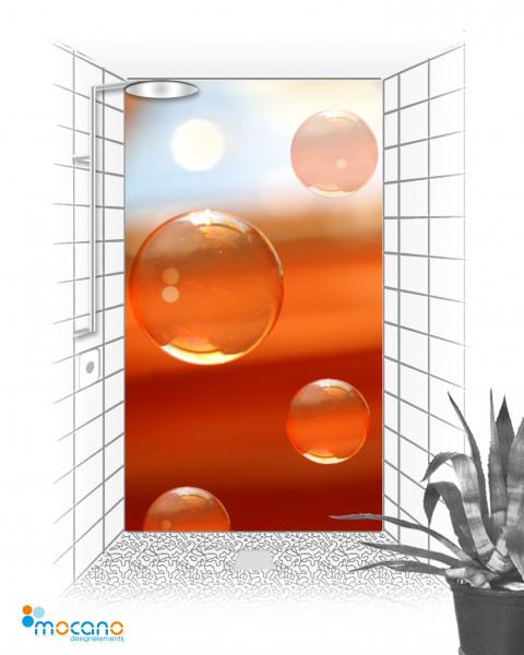 Duschrückwand - Water Bubbles - Wohnbeispiel