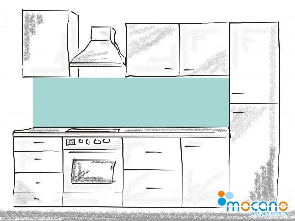 Küchenrückwand Mint einfarbig UNI 200x50cm - Wohnbeispiel