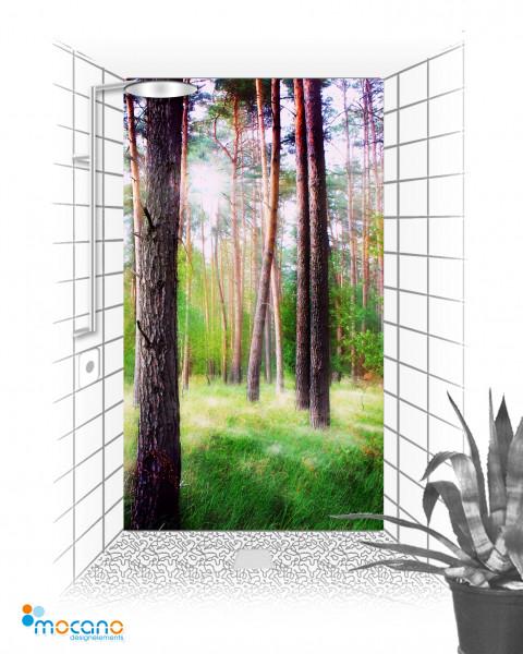 Mystischer Wald 120x210cm Duschrückwand - Wohnbeispiel
