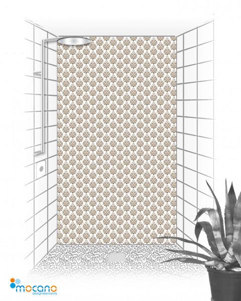 Duschrückwand Luxury Design Eleganz 120x210cm - Wohnbeispiel