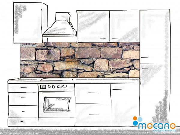 Küchenrückwand Natursteinwand - 200x60cm Wohnbeispiel