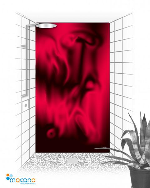 Duschrückwand Hot Lawa 120x210cm - Wohnbeispiel