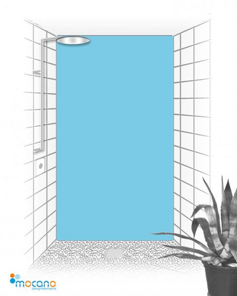 Duschrückwand Licht Blau einfarbig UNI - Wohnbeispiel