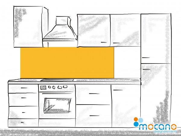 Küchenrückwand Gold Gelb einfarbig UNI 180x50cm - Wohnbeispiel