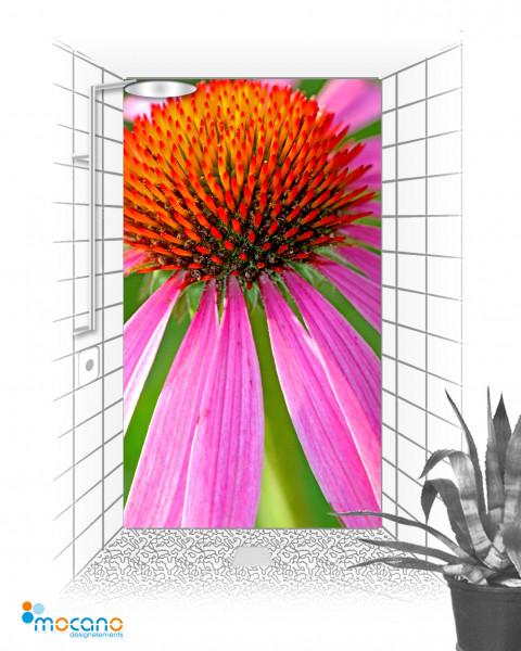 Duschrückwand Flower 50 - 120x210cm - Wohnbeispiel