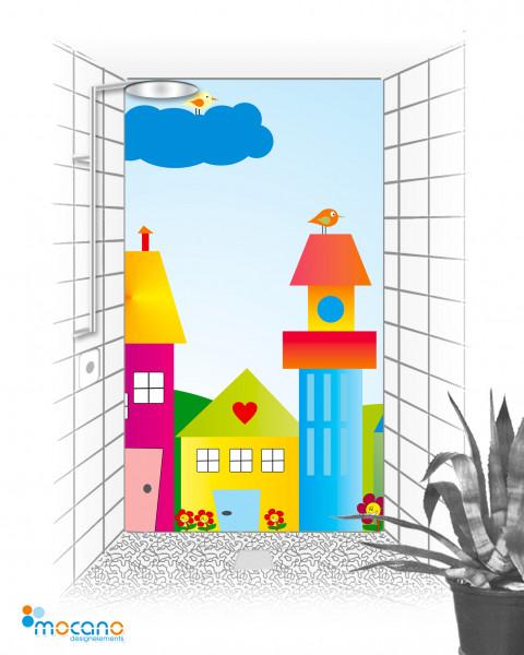Duschrückwand Die kleine Kinderwelt 120x210cm - Wohnbeispiel