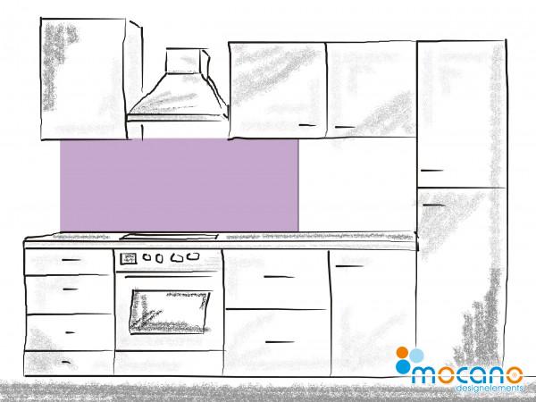 Küchenrückwand Flieder einfarbig UNI 150x50cm - Wohnbeispiel