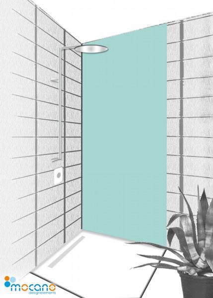 Duschrückwand Mint 80x210cm einfarbig UNI - Wohnbeispiel