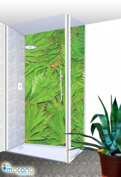 Duschrückwand - Blätter Dschungel Wohnbeispiel