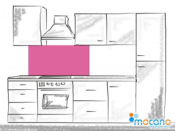 Küchenrückwand Magenta einfarbig UNI 120x50cm - Wohnbeispiel
