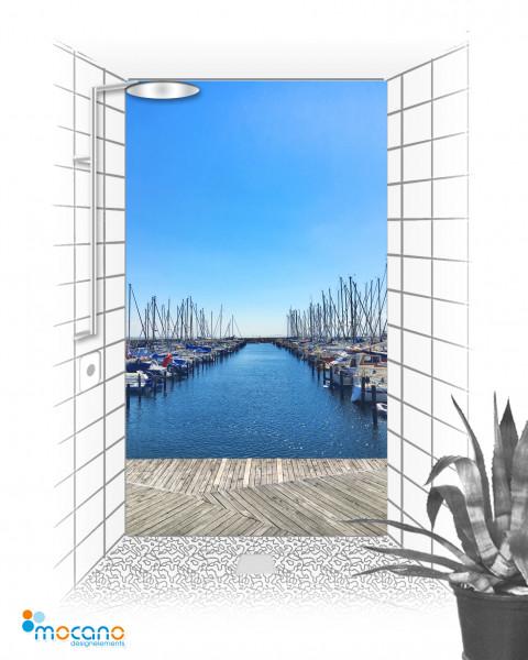 Duschrückwand Yachthafen 2 DE 120x210cm - Wohnbeispiel