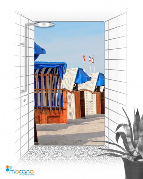 Duschrückwand - Strandkörbe 21 - Wohnbeispiel