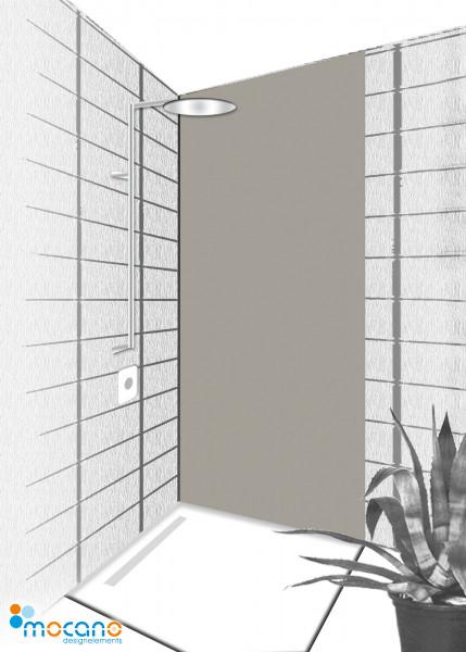 Duschrückwand Mittel Grau 80x210cm einfarbig UNI - Wohnbeispiel
