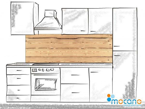Küchenrückwand Holzoptik Rustikal 2 180x60cm - Wohnbeispiel