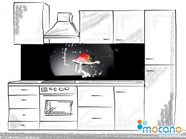 Küchenrückwand Erdbeere Splash 200x60cm - Wohnbeispiel