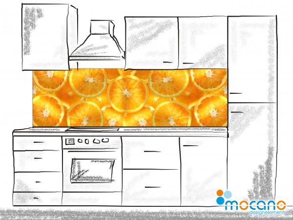 Küchenrückwand Orangen 200x60cm - Wohnbeispiel