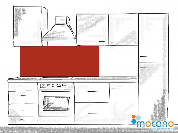Küchenrückwand Ziegel Rot einfarbig UNI 150x50cm - Wohnbeispiel